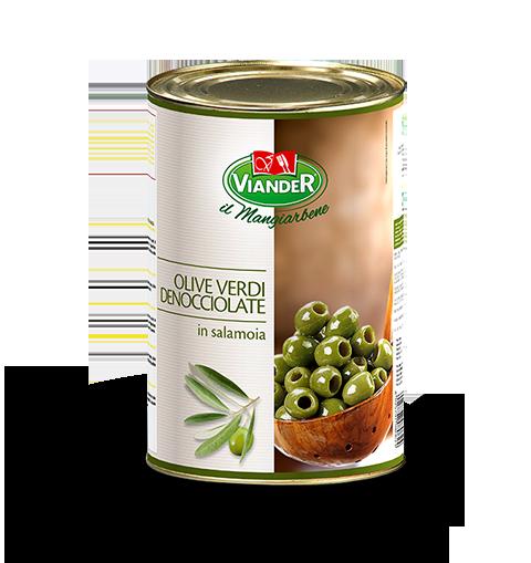 Magozott, zöld olívabogyó sós lében 4250g